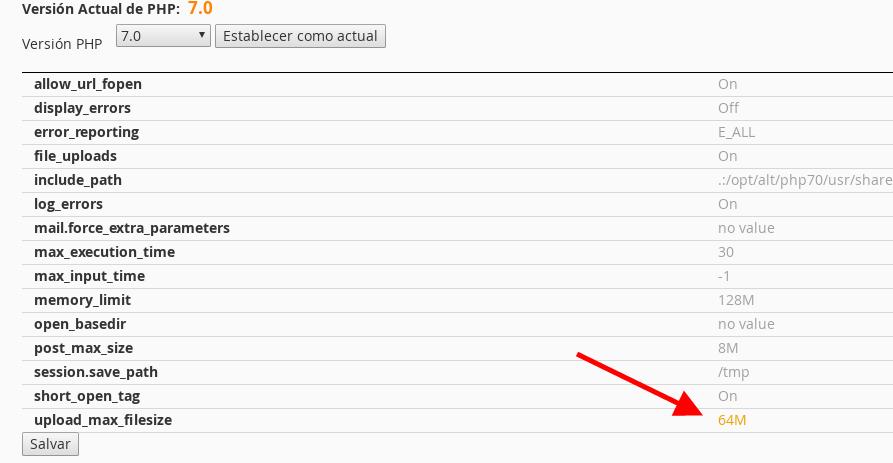 editar valor php