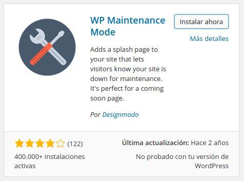Cómo colocar tu web de WordPress en modo Mantenimiento