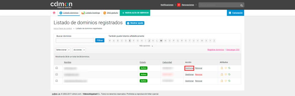 Transferir un dominio a otro proveedor