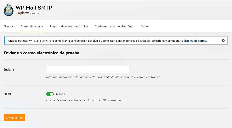 Cómo configurar correos SMTP en WordPress