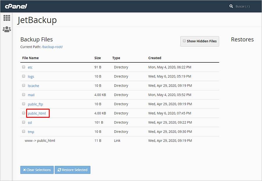 Cómo restaurar copias seguridad con JetBackup
