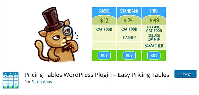 Plugins para presentar tablas de precios en WordPress