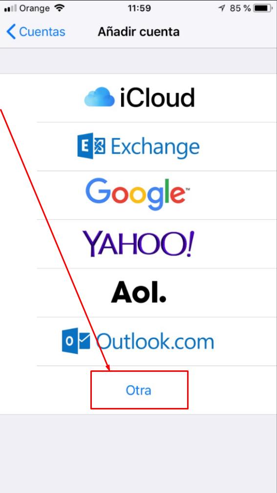 Cómo configurar cuenta de correo en iPhone iOS 11