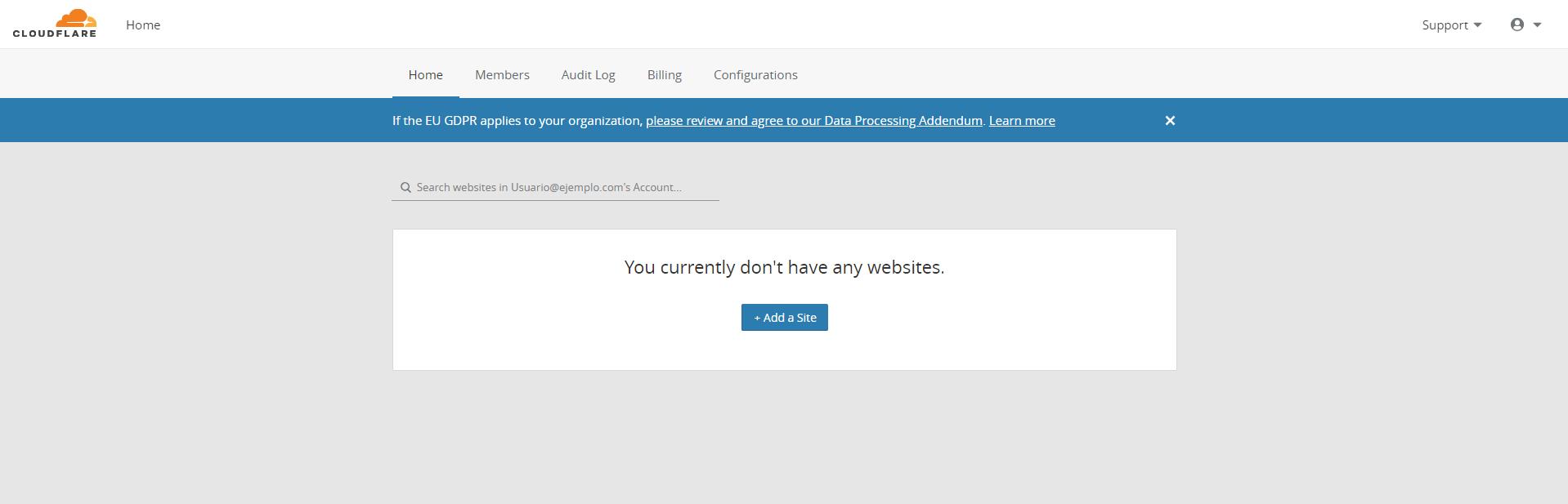 Activar Cloudflare para wordpress