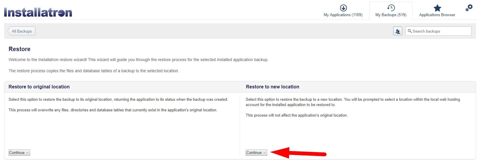 Cómo duplicar WordPress entre sus cuentas con Installatron