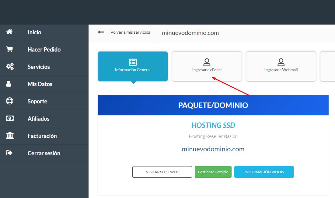 Configura tu página web si eres Reseller
