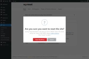 Borrado de contenido de WordPress con WP Reset