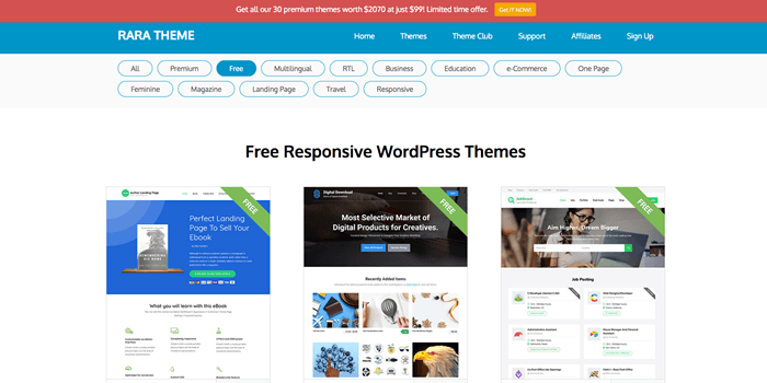 Las mejores páginas para descargar temas de WordPress