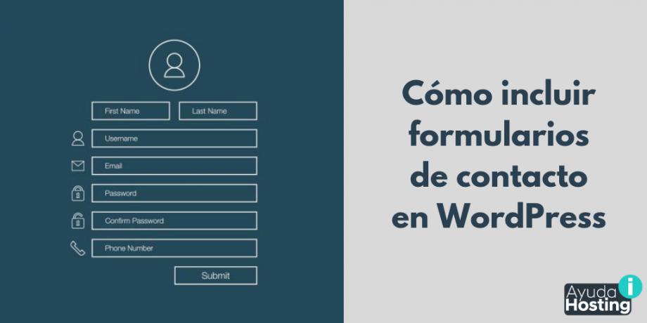 Cómo incluir formularios de contacto en WordPress