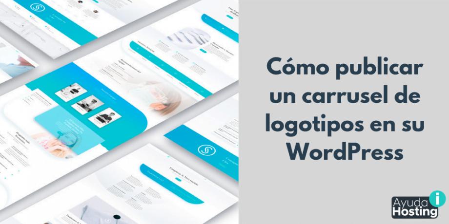 Cómo publicar un carrusel de logotipos en su WordPress