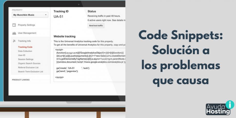 Code Snippets: Solución a los problemas que causa