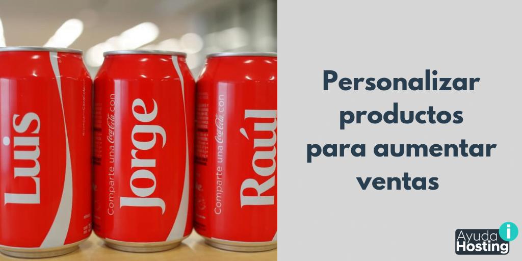 Personalizar productos para aumentar ventas en una tienda en línea