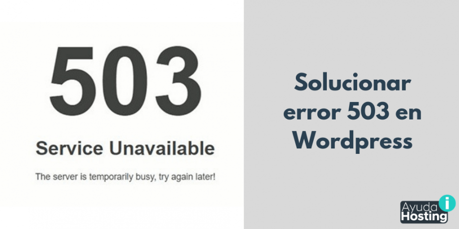 Solucionar error 503 en WordPress