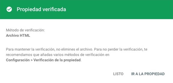 Cómo verificar tu web con Google Search Console