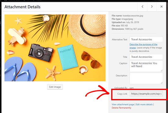 Cómo obtener el enlace o URL de una imagen para WordPress