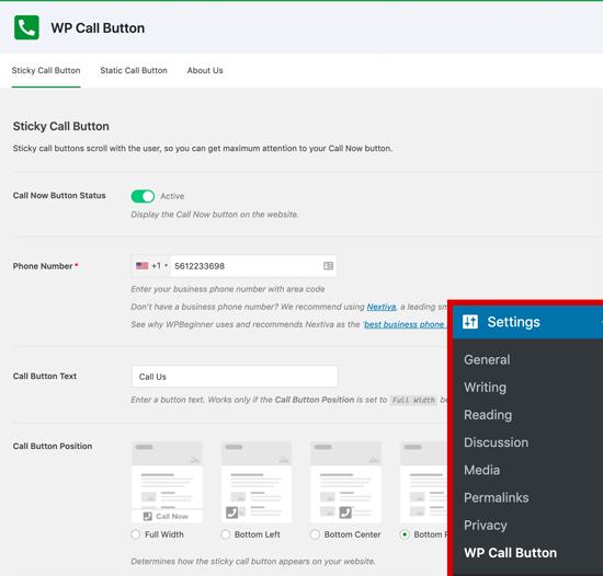 Cómo colocar un icono de llamar en WordPress