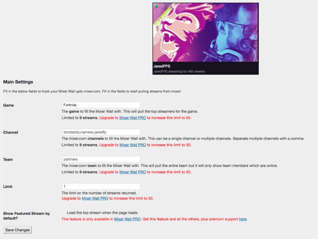 Cómo mostrar streaming de Mixer en WordPress