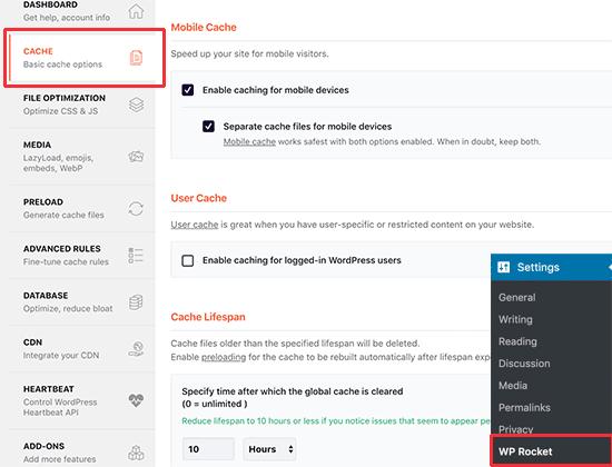 Cómo instalar y configurar WP Rocket en WordPress