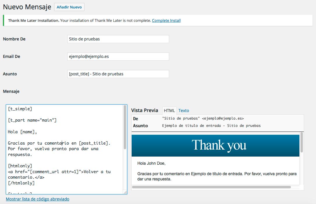 Cómo enviarles a los usuarios un correo de agradecimiento por los comentarios en WordPress