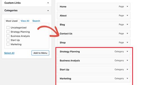 Crear un menú desplegable para WordPress