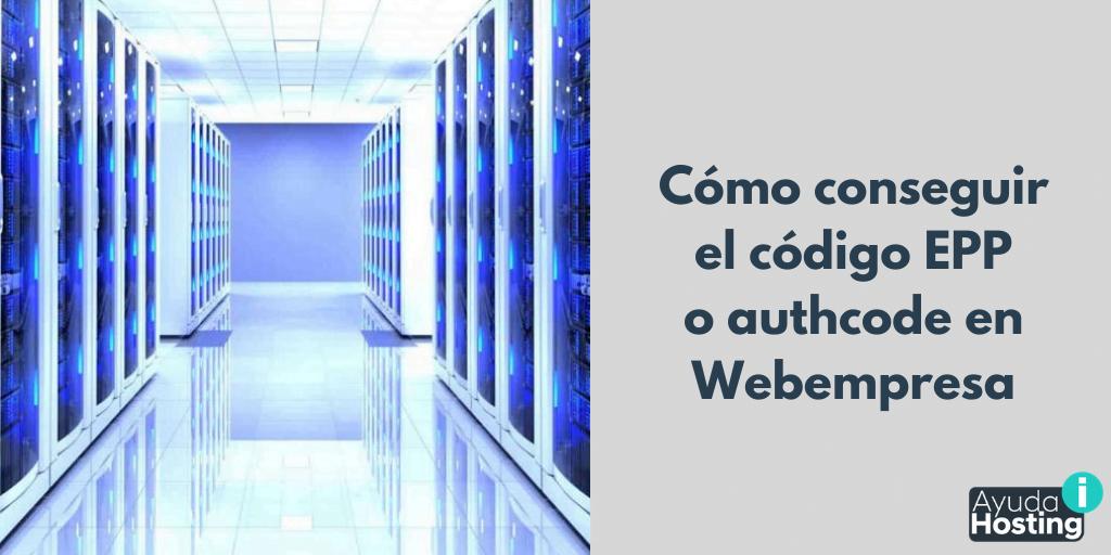 Conseguir código authcode en Webempresa