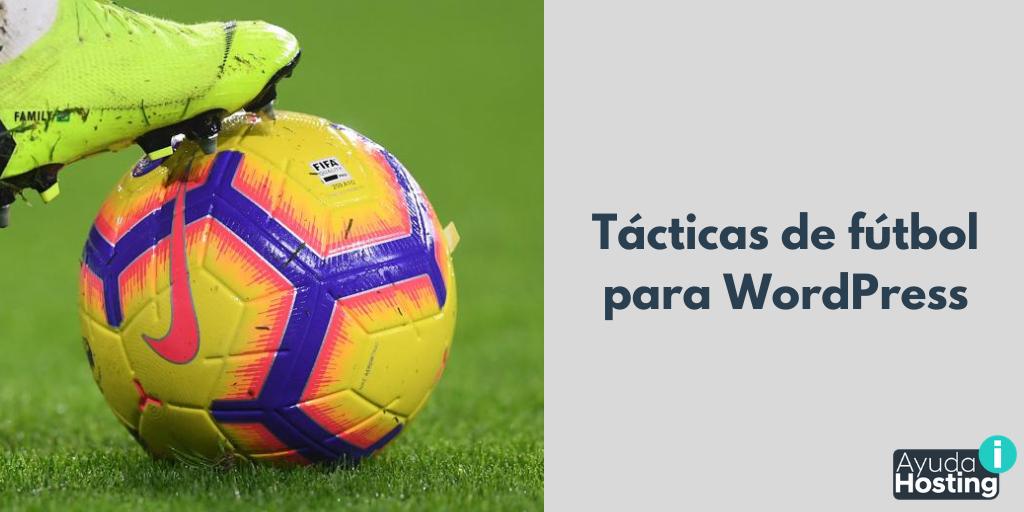 Tácticas de fútbol para WordPress