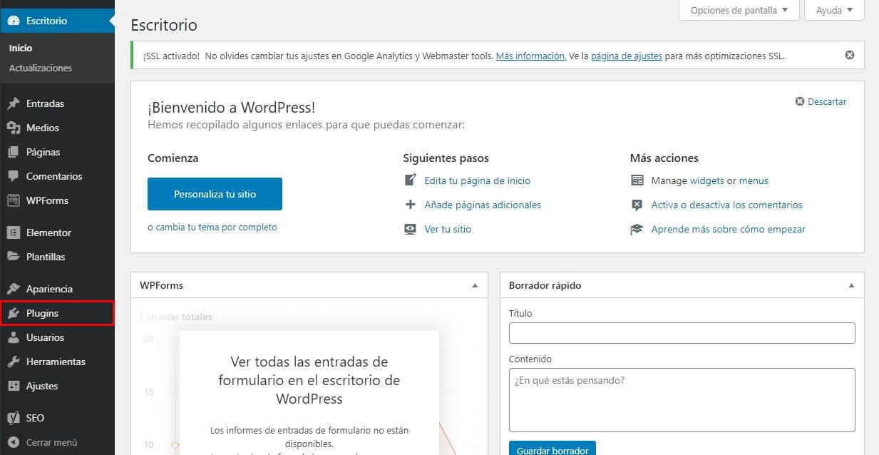 como crear página web