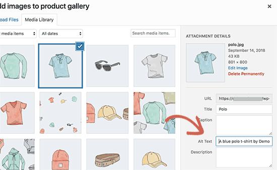 Insertar texto alternativo en las imágenes de los productos posicionar tu tienda Woocommerce