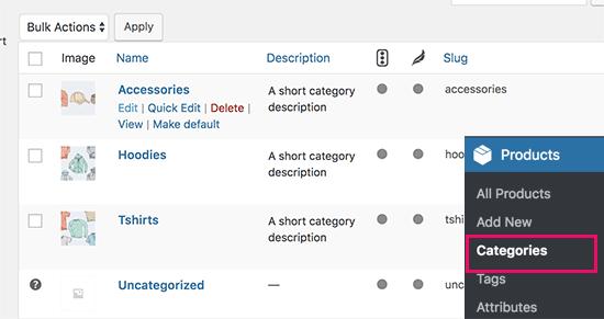 Colocar títulos y descripciones SEO en las categorías de los productos