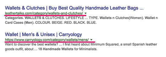 Utilizar adecuadamente las categorías y etiquetas de productos