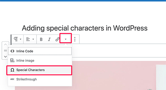 Cómo colocar caracteres especiales en posts de WordPress