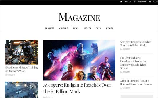 Los mejores temas de WordPress para revistas en este 2020