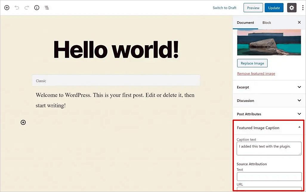 Cómo agregar texto a imágenes destacadas en WordPress