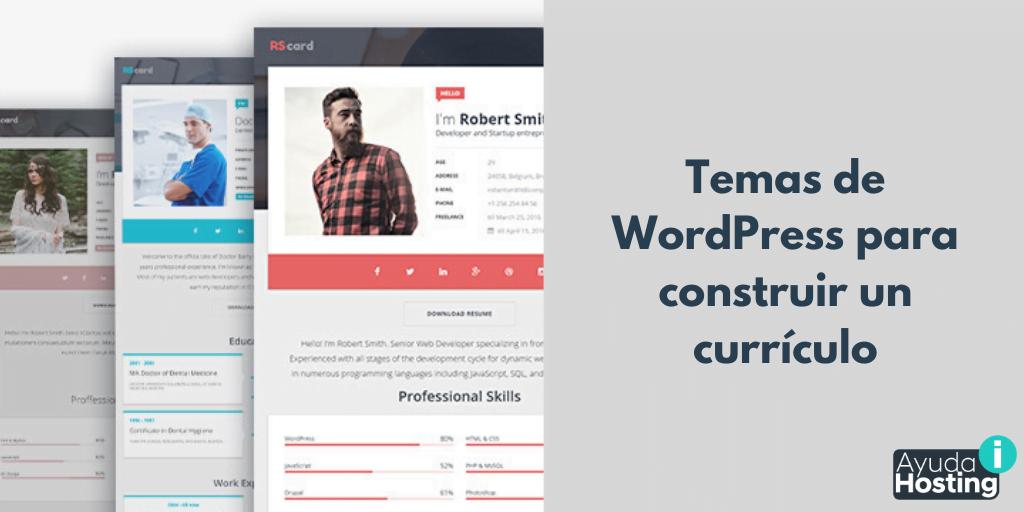 Temas de WordPress para construir un currículo
