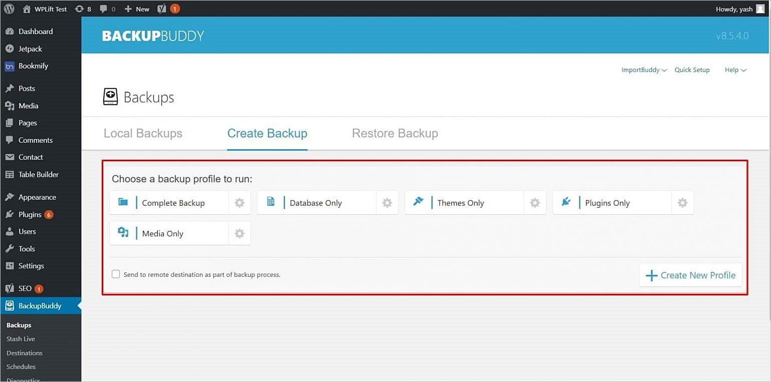 Cómo hacer una copia de seguridad con BackupBuddy en WordPress