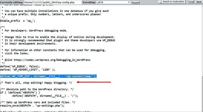 Cómo reparar el error Falta una carpeta temporal en WordPress