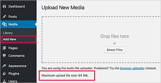 Cómo aumentar el tamaño máximo de carga de archivos en WordPress