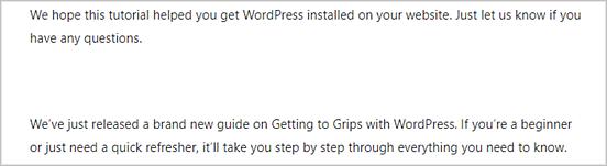 Cómo agregar líneas horizontales en los contenidos en WordPress