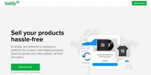 Sellfy mejores alternativas de Shopify en 2021
