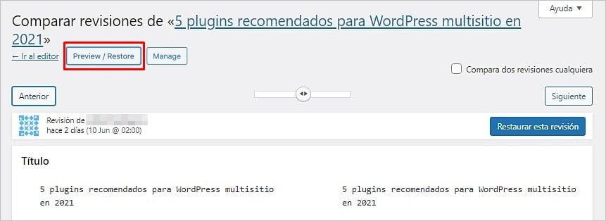 Guía definitiva para las revisiones de WordPress